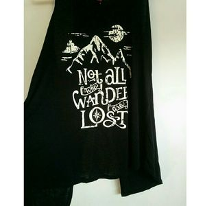 """Tops - Open back tank top🏔""""Not all who wander are lost"""""""